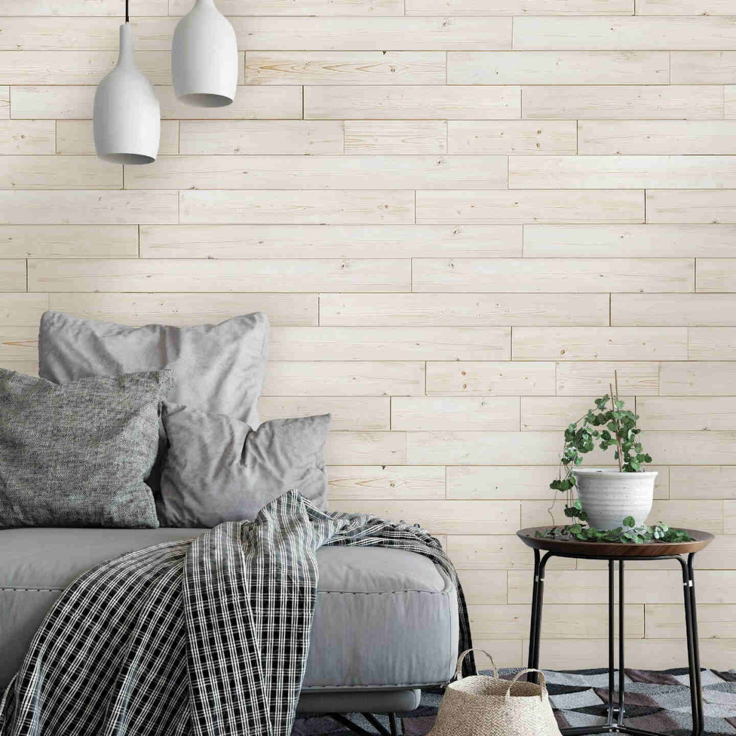 Global Product Sourcing 5.375 In. W x 5/16 In. Thick White Reclaimed Wood Shiplap Board Image 2