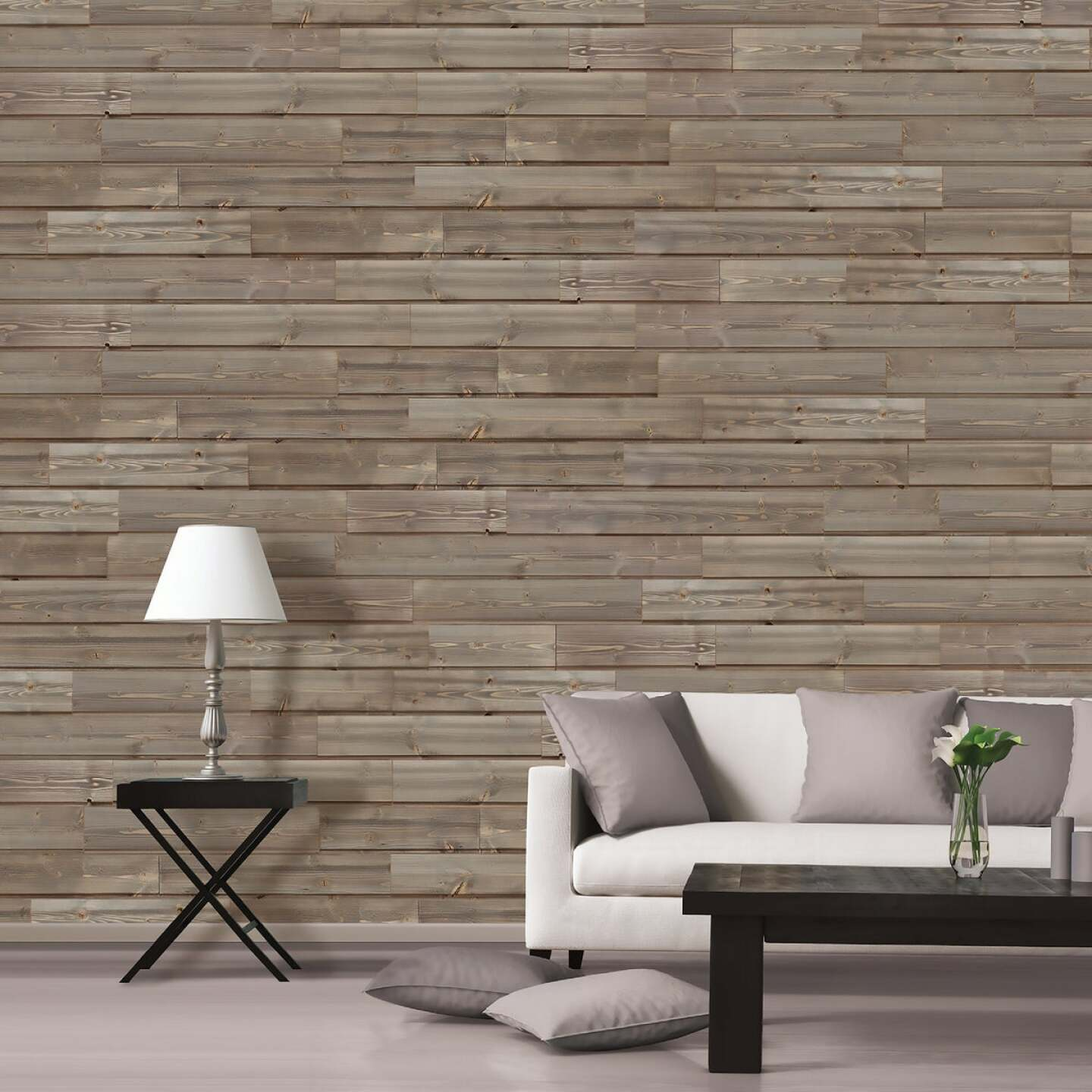 Global Product Sourcing 5.375 In W. x 5/16 In. Thick Gray Reclaimed Wood Shiplap Board Image 2
