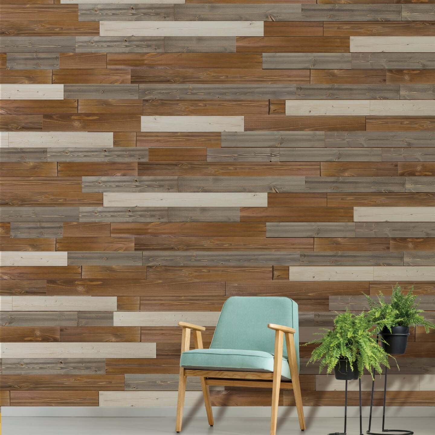 Global Product Sourcing 5.375 In W. x 5/16 In. Thick Gray Reclaimed Wood Shiplap Board Image 4