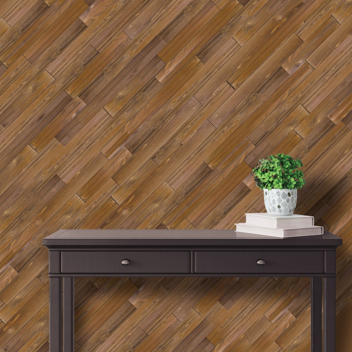 Global Product Sourcing 5.375 In W. x 5/16 In. Thick Brown Reclaimed Wood Shiplap Board Image 2
