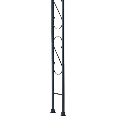 Gilpin Newport 9-1/2 In. x 8 Ft. Wrought Iron Railing Flat Iron Ornamental Column