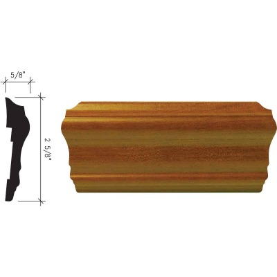 Inteplast Building Products 5/8 In. x 2-5/8 In. x 8 Ft. Independence Cherry Polystyrene Chair Rail Molding