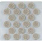 Magic Sliders 3/8 In. Round Beige Self Adhesive Felt Pads (84-Count) Image 1