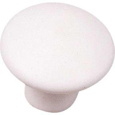 Laurey White Matte 1-3/8 In. Cabinet Knob