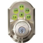 Kwikset Signature Series SmartCode Satin Nickel Electronic Deadbolt Image 6