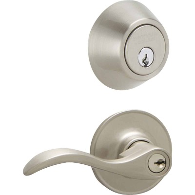 Dexter Seville Satin Nickel Deadbolt and Lever Combo