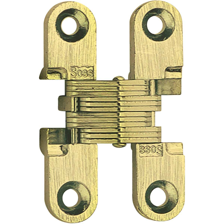 SOSS Satin Brass 1/2 In. x 2-3/8 In. Invisible Hinge, (2-Pack) Image 1