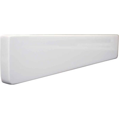 Modular Vanity Tops 4 In. H x 22 In. L Solid White Cultured Marble Side Splash, Universal