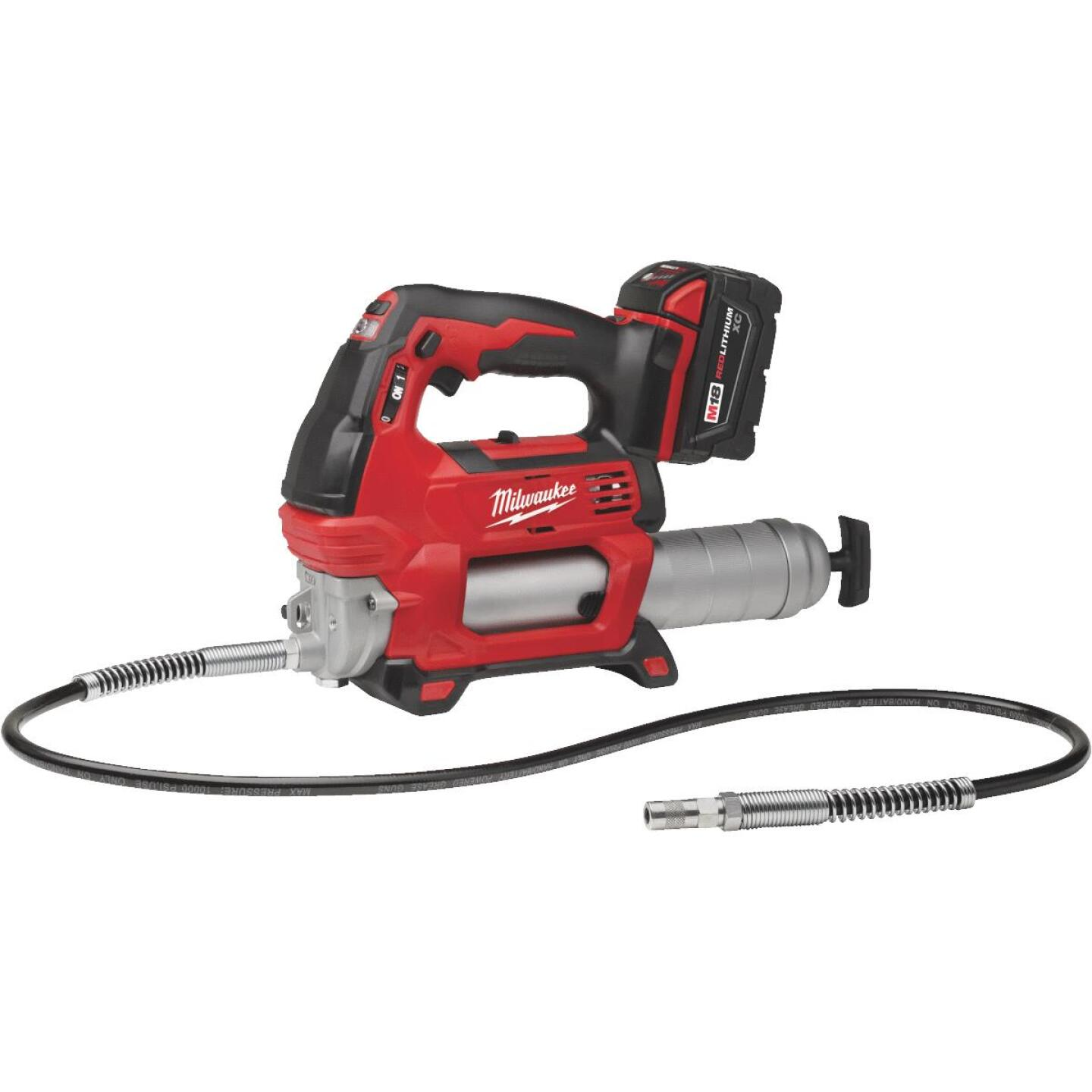 Milwaukee M18 18 Volt Lithium-Ion 2-Speed Cordless Grease Gun (Bare Tool) Image 2