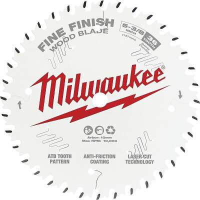 Milwaukee 5-3/8 In. 36-Tooth Fine Finish Circular Saw Blade