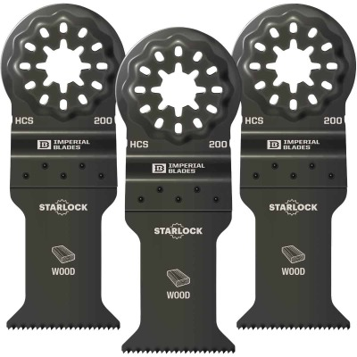 Imperial Blades Starlock 1-3/8 In. 18 TPI Fast Wood Oscillating Blade (3-Pack)