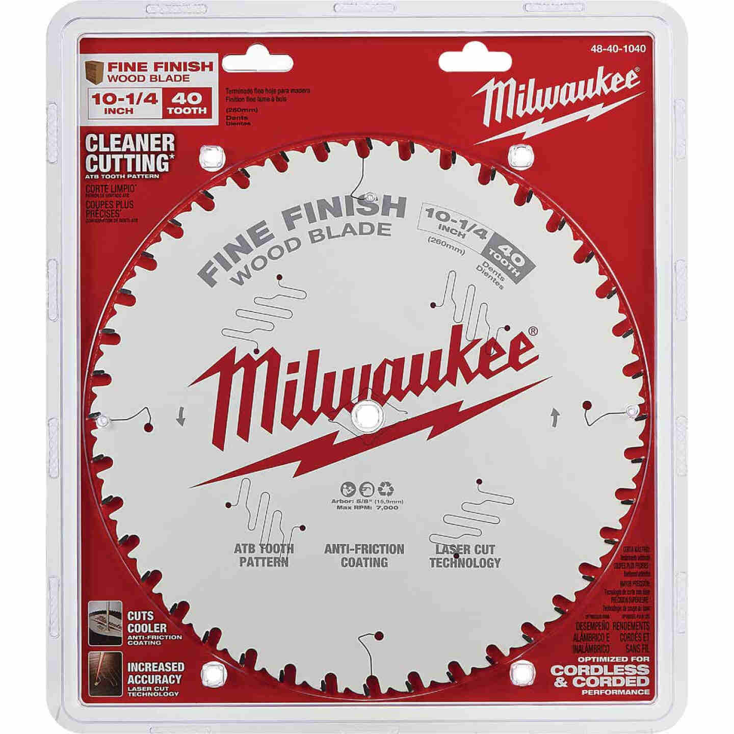Milwaukee 10-1/4 In. 40-Tooth Fine Finish Circular Saw Blade Image 2