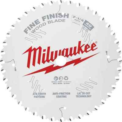 Milwaukee 7-1/4 In. 40-Tooth Fine Finish Circular Saw Blade, Bulk