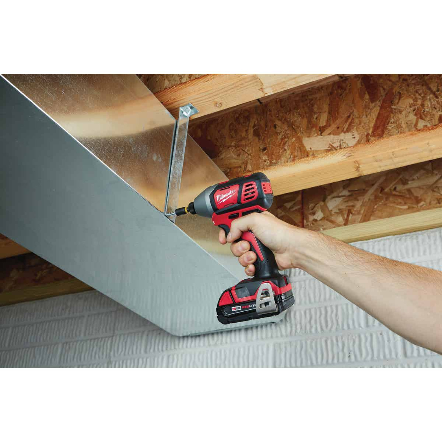 Milwaukee M18 18 Volt Lithium-Ion 2-Speed 1/4 In. Hex Cordless Impact Driver Kit (with 2 Compact Batteries) Image 3