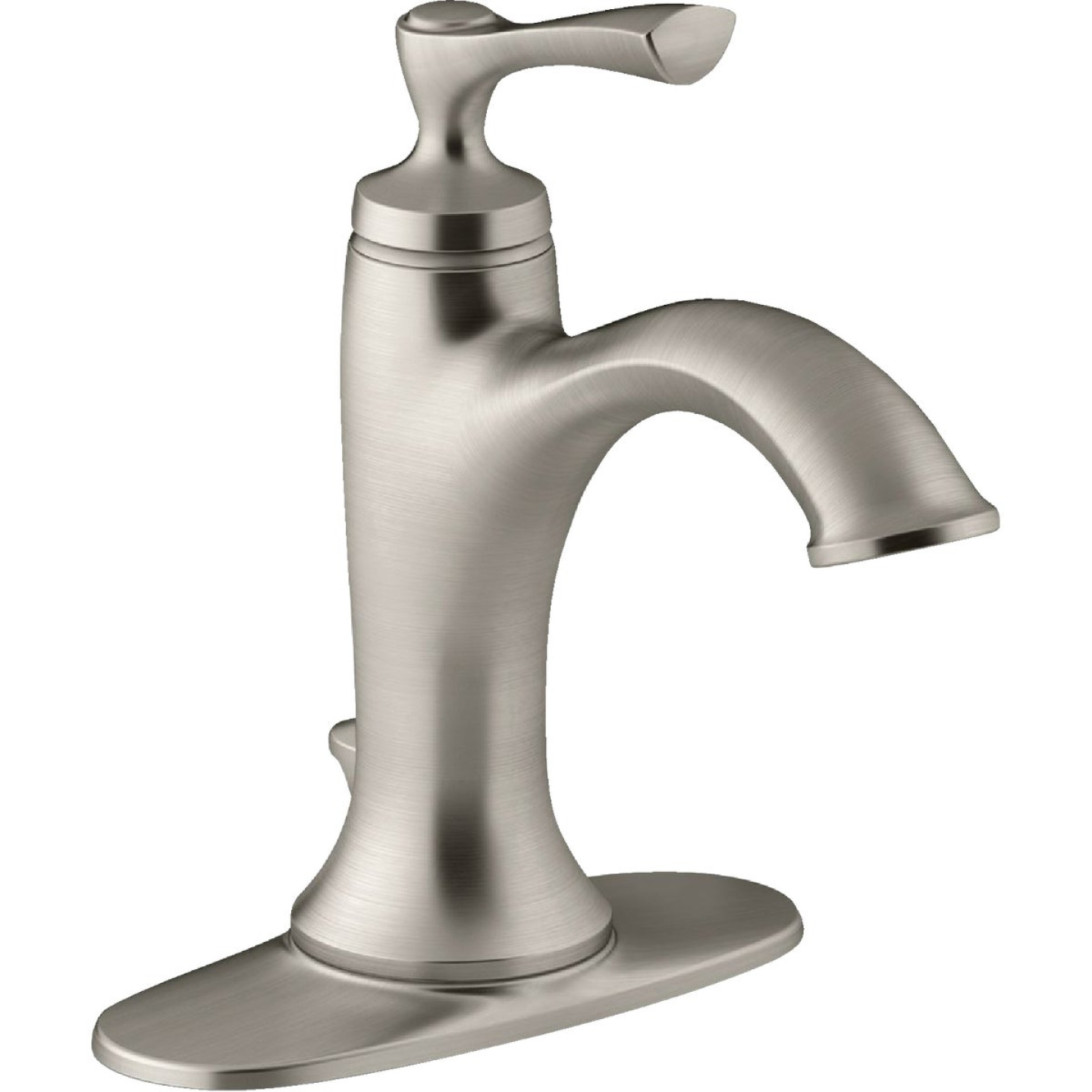 Kohler Elliston Brushed Nickel 1-Handle Lever 4 In. Centerset Bathroom Faucet with Pop-Up Image 1
