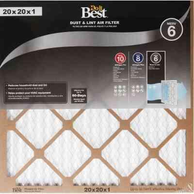 Do it Best 20 In. x 20 In. x 1 In. Dust & Lint MERV 6 Furnace Filter