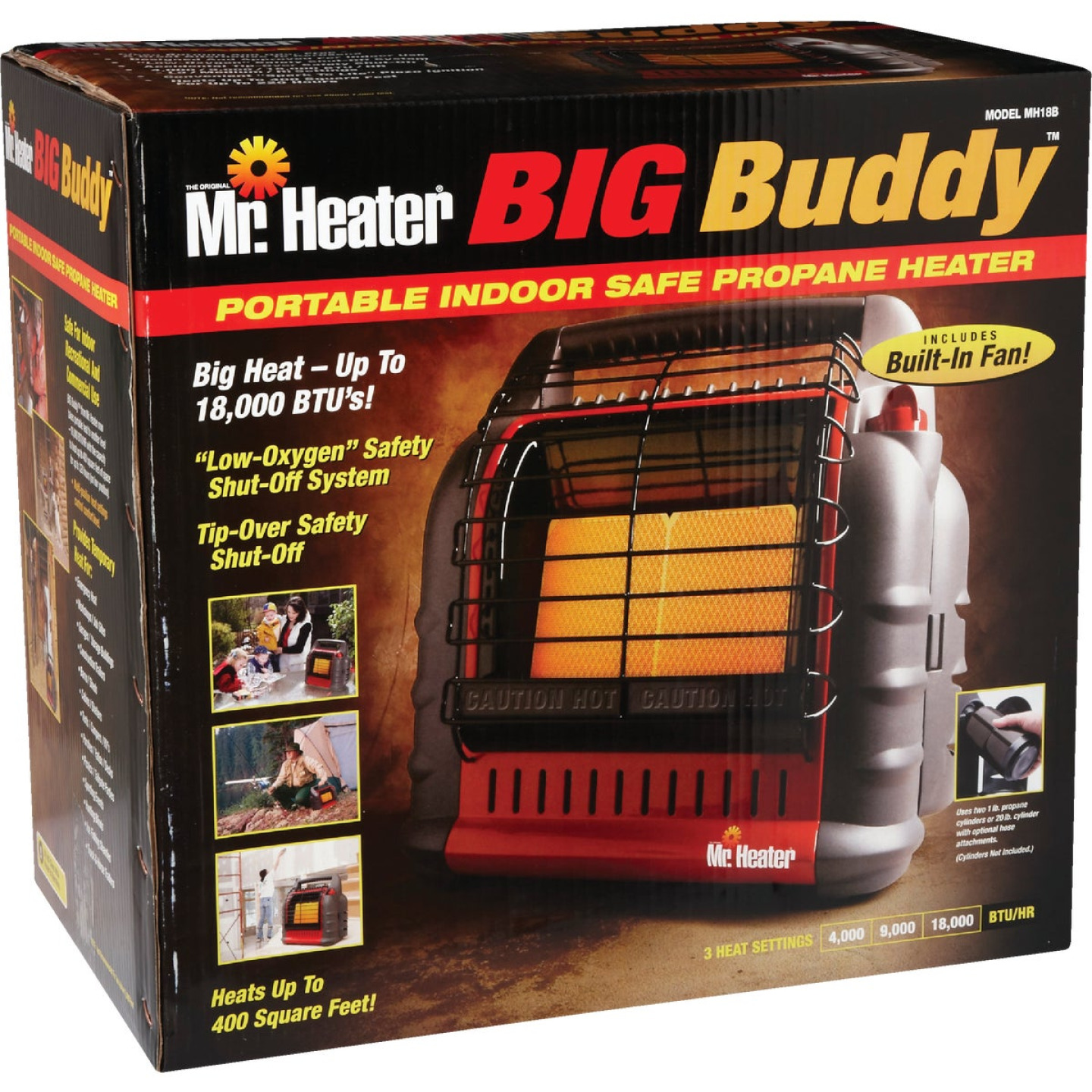 MR. HEATER 18,000 BTU Radiant Big Buddy Propane Heater Image 7