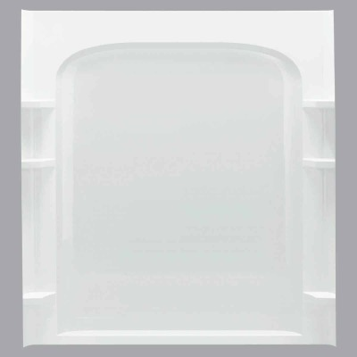 Sterling 60 In. W x 72-1/2 In. H White Vikrell Shower Back Wall