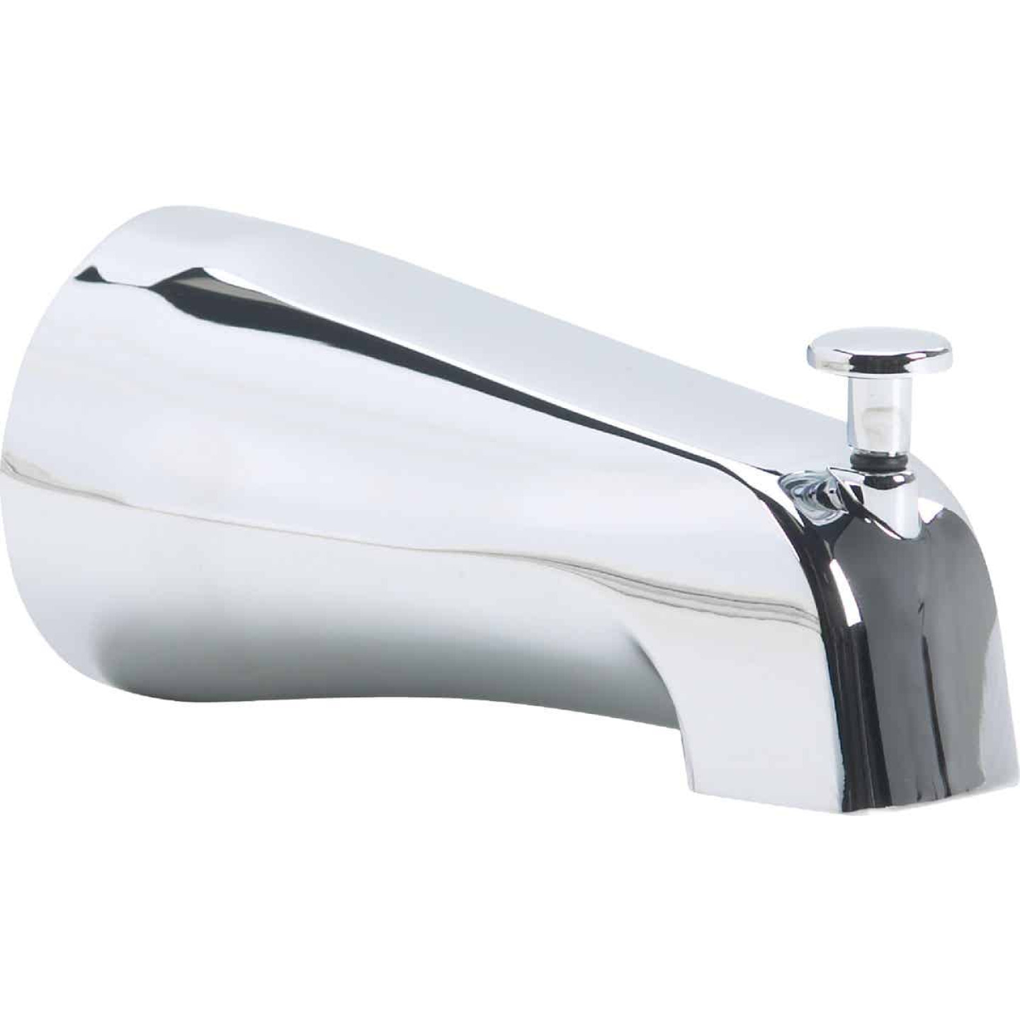 Kohler Genuine Parts 1/2 In. Slip-Fit Chrome Bathtub Spout with Diverter Image 1