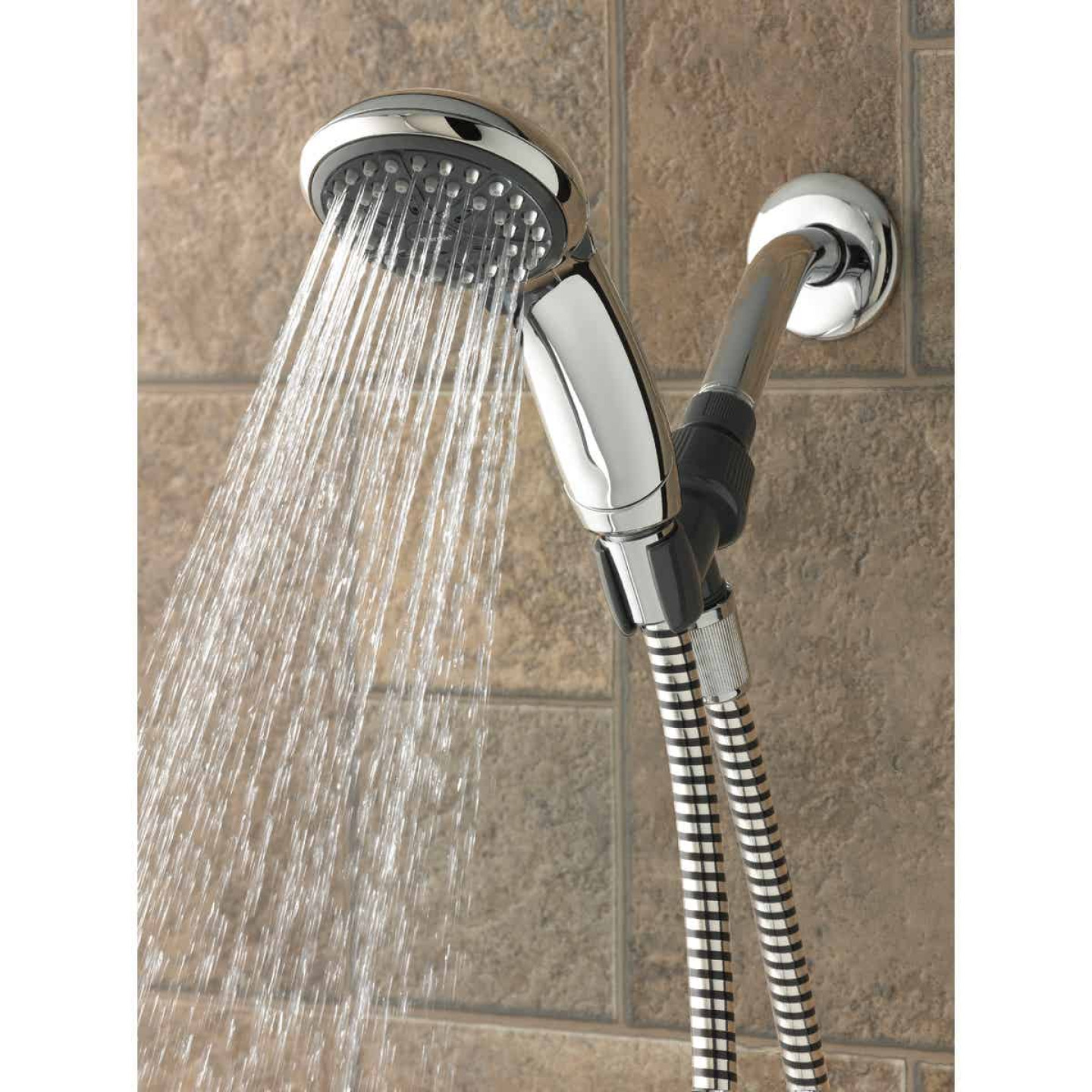 Waterpik EcoFlow 3-Spray 1.6 GPM Handheld Shower, Chrome Image 2