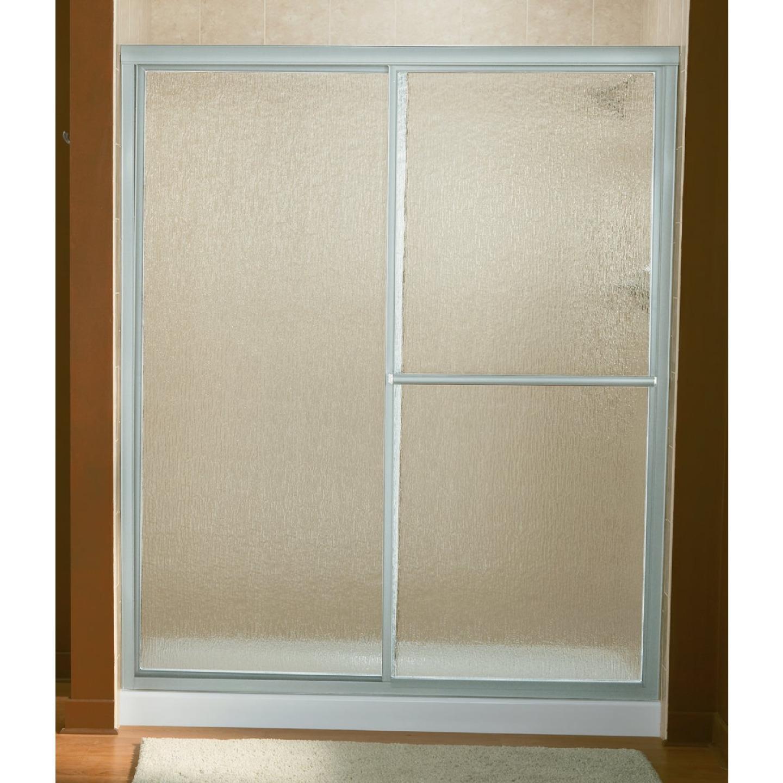 Sterling Deluxe 59-3/8 In. W. X 70 In H. Chrome Rain Glass Sliding Shower Door Image 1