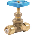 Sharkbite 1/2 In. SB x 1/2 In. SB Brass Push-to-Connect Gate Valve Image 1