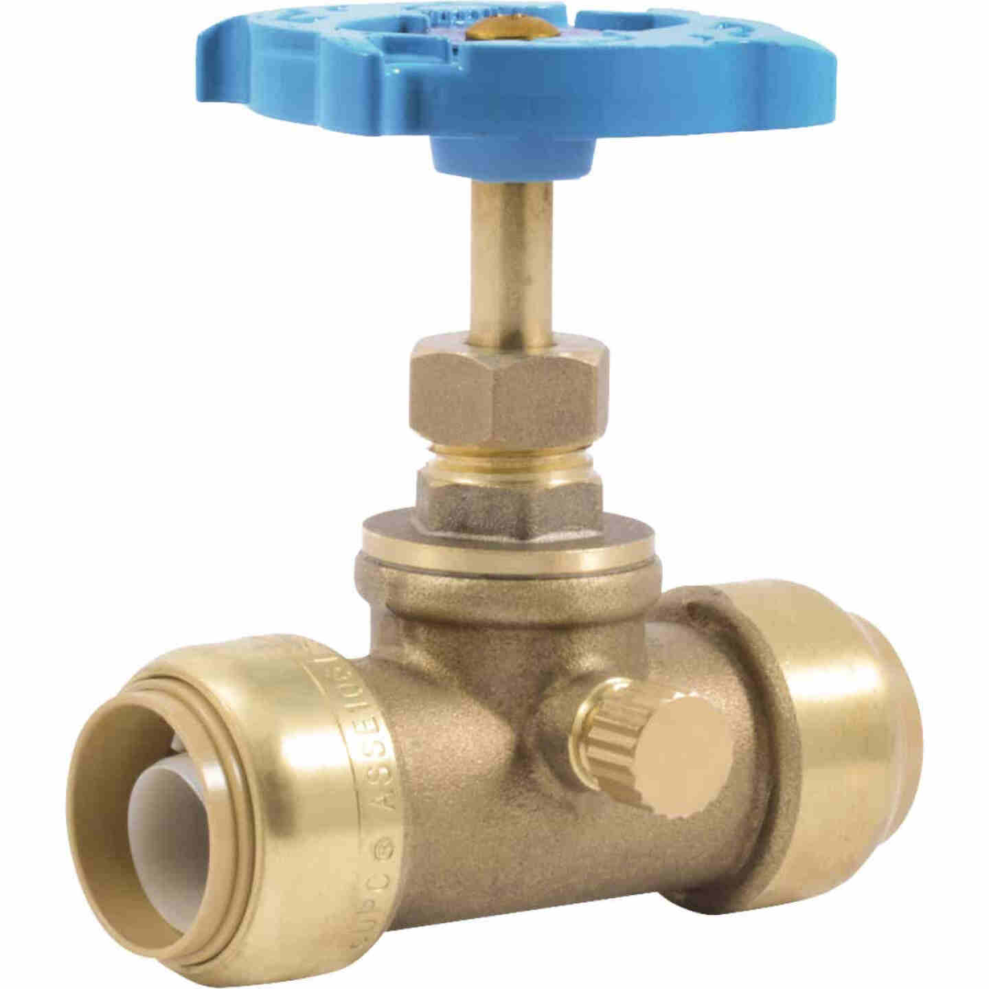 Sharkbite 3/4 In. SB x 3/4 In. SB Brass Push-to-Connect Gate Valve Image 1