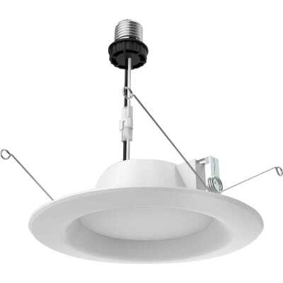 Satco 5 In./6 In. Retrofit Non-IC Rated White LED Recessed Light Kit