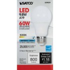 Satco 60W Equivalent Natural Light A19 Medium Dimmable LED Light Bulb Image 2