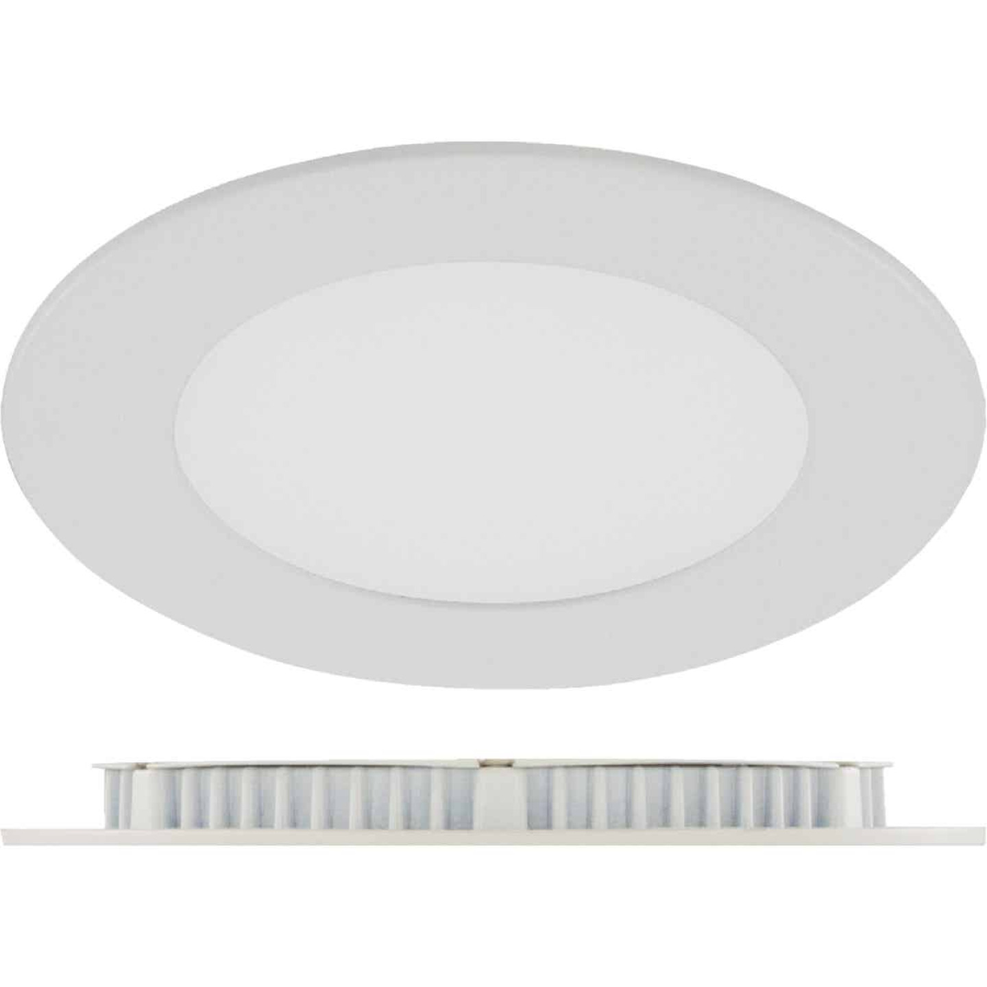 Liteline Trenz ThinLED 4 In. New Construction/Remodel IC Rated White 600 Lm. 3000K Recessed Light Kit Image 1