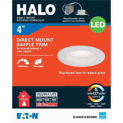 Liteline Trenz ThinLED 4 In. New Construction/Remodel IC White 500 Lm. Sunset Dimming Indirect Recessed Light Kit
