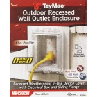 TayMac White Vertical/Horizontal Non-Metallic Recessed Outdoor Outlet Kit Image 2