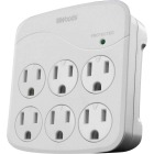 Woods 6-Outlet 15A Gray Surge Tap Image 1