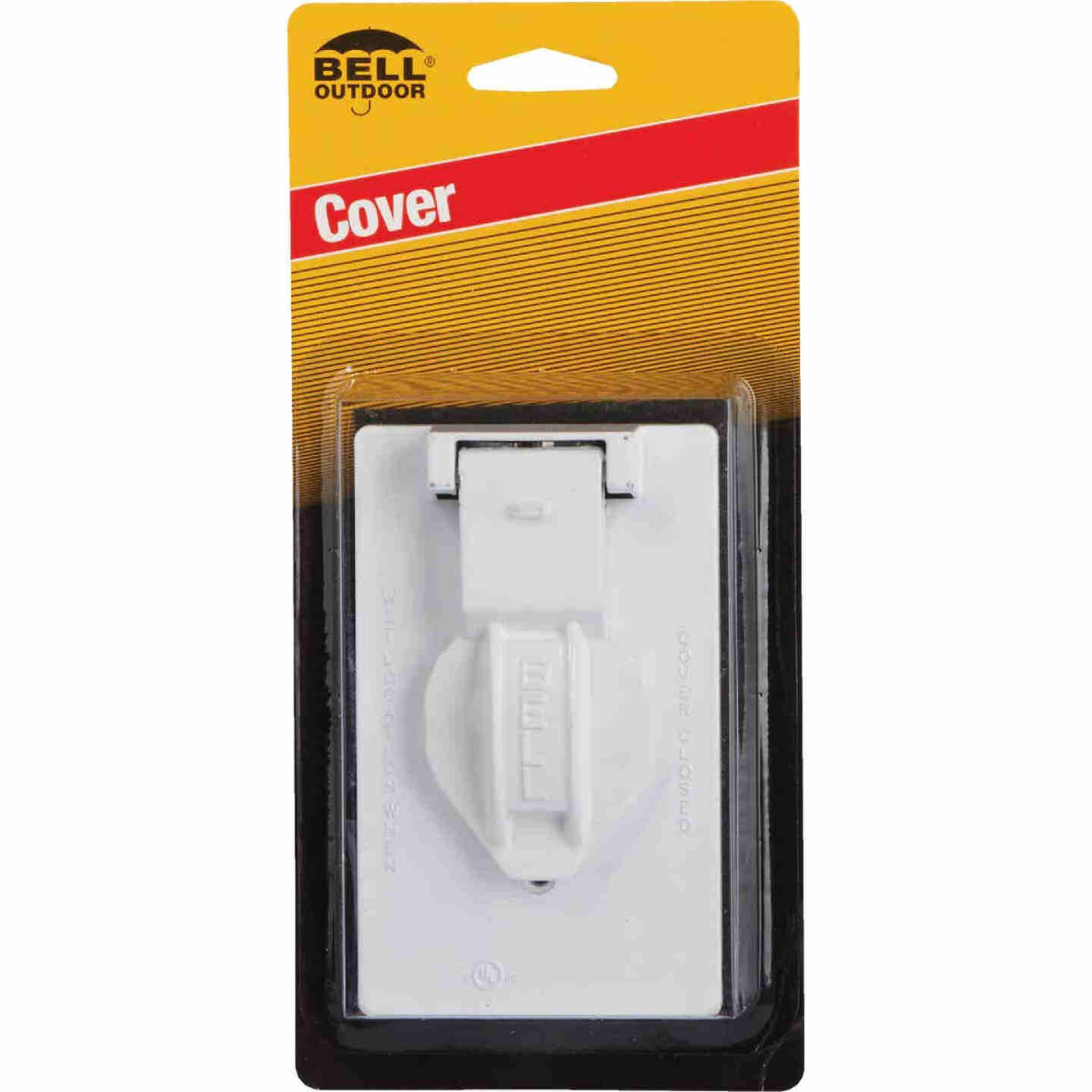 Hubbell Single Gang Vertical Corrosion Resistant Aluminum Weatherproof Electrical Cover Image 2