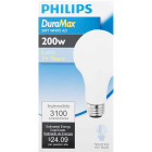 Philips DuraMax 200W Frosted Soft White Medium A21 Incandescent Light Bulb Image 2