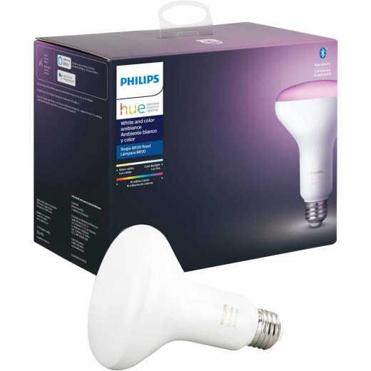 Philips Hue White & Color Ambiance 60W Equivalent BR30 Medium Base LED Floodlight Light Bulb
