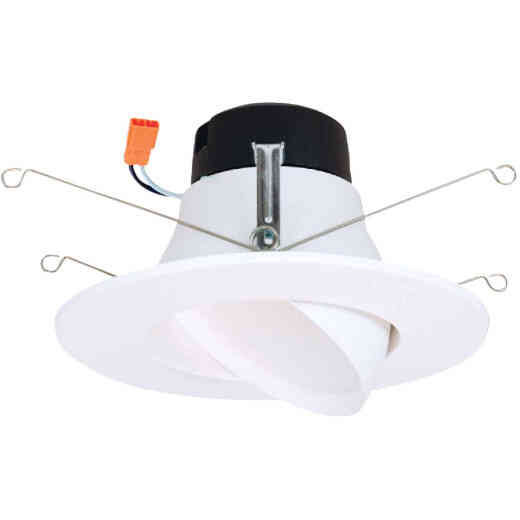 Halo 5 In./6 In. Retrofit Gimbal 3000K LED Recessed Light Kit, 614 Lm.