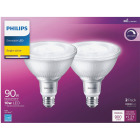 Philips 90W Equivalent Bright White PAR38 Medium Indoor/Outdoor LED Floodlight Light Bulb (2-Pack) Image 2