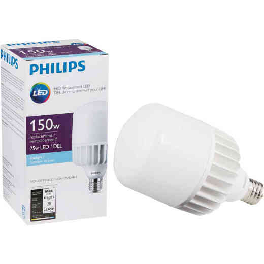 Philips 75W Frosted T-Shape Mogul Base LED High-Intensity Replacement Light Bulb, 500W Incandescent Equivalent