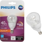 Philips Warm Glow 40W Equivalent Soft White A15 Candelabra Dimmable LED Light Bulb Image 1