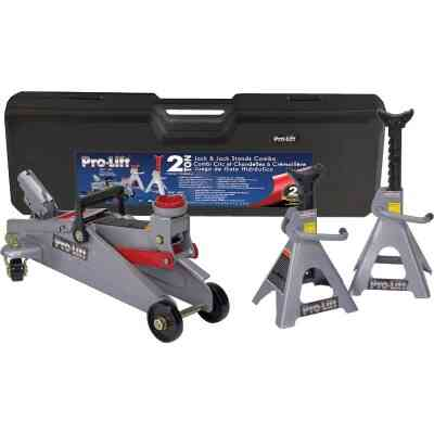 Pro-Lift 2-Ton Service Floor Jack with Jack Stands