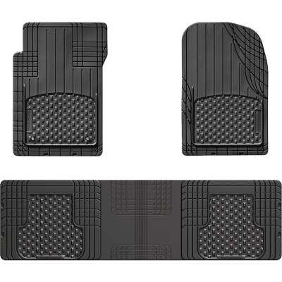 WeatherTech Trim-to-Fit Black Rubber Floor Mat (3-Piece)