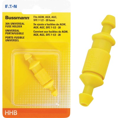 Bussmann 30-Amp #12 to #16 Universal Glass Tube Inline Fuse Holder