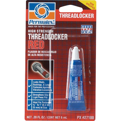 PERMATEX 0.2 Oz. Red High Strength Threadlocker