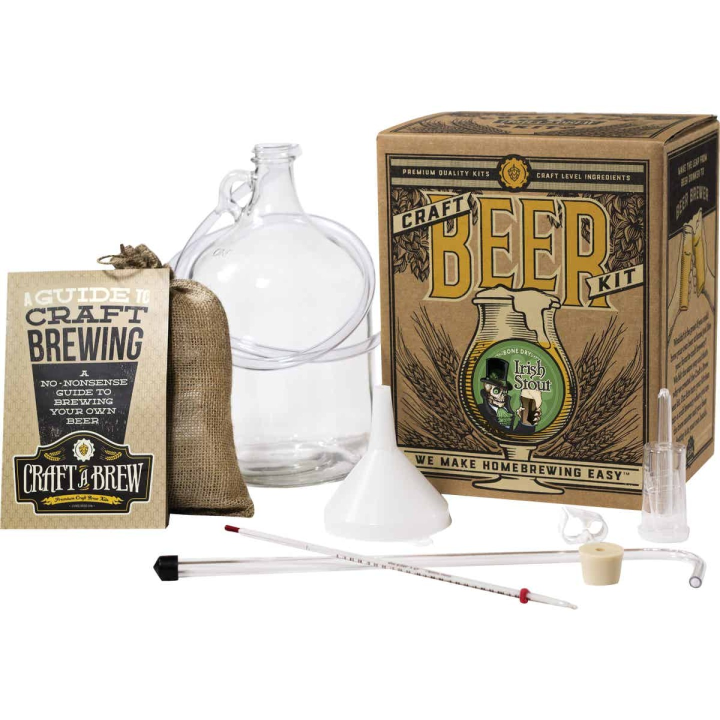 Craft A Brew Bone Dry Irish Stout Beer Brewing Kit (11-Piece) Image 1