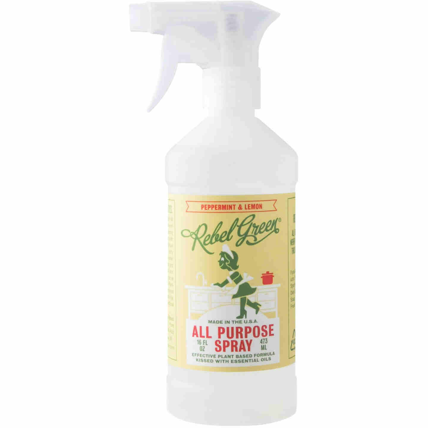 Rebel Green 16 Oz. Peppermint & Lemon Natural All-Purpose Spray Image 1