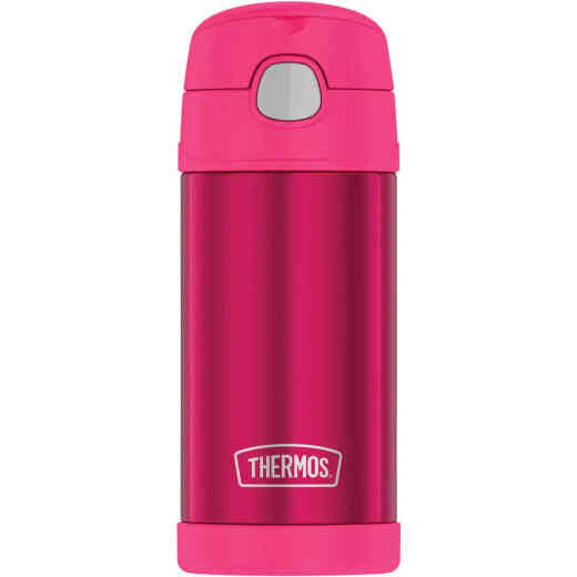 Thermos Funtainer 12 Oz. New Pink Stainless Steel Water Bottle With Straw