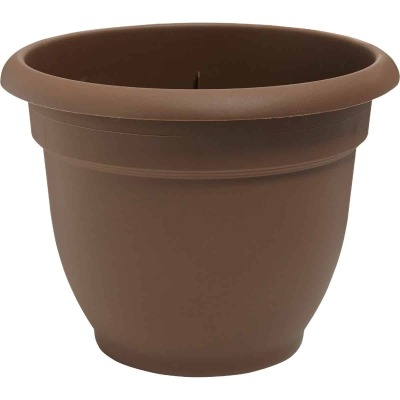 Bloem Ariana 10 In. Plastic Self Watering Chocolate Planter