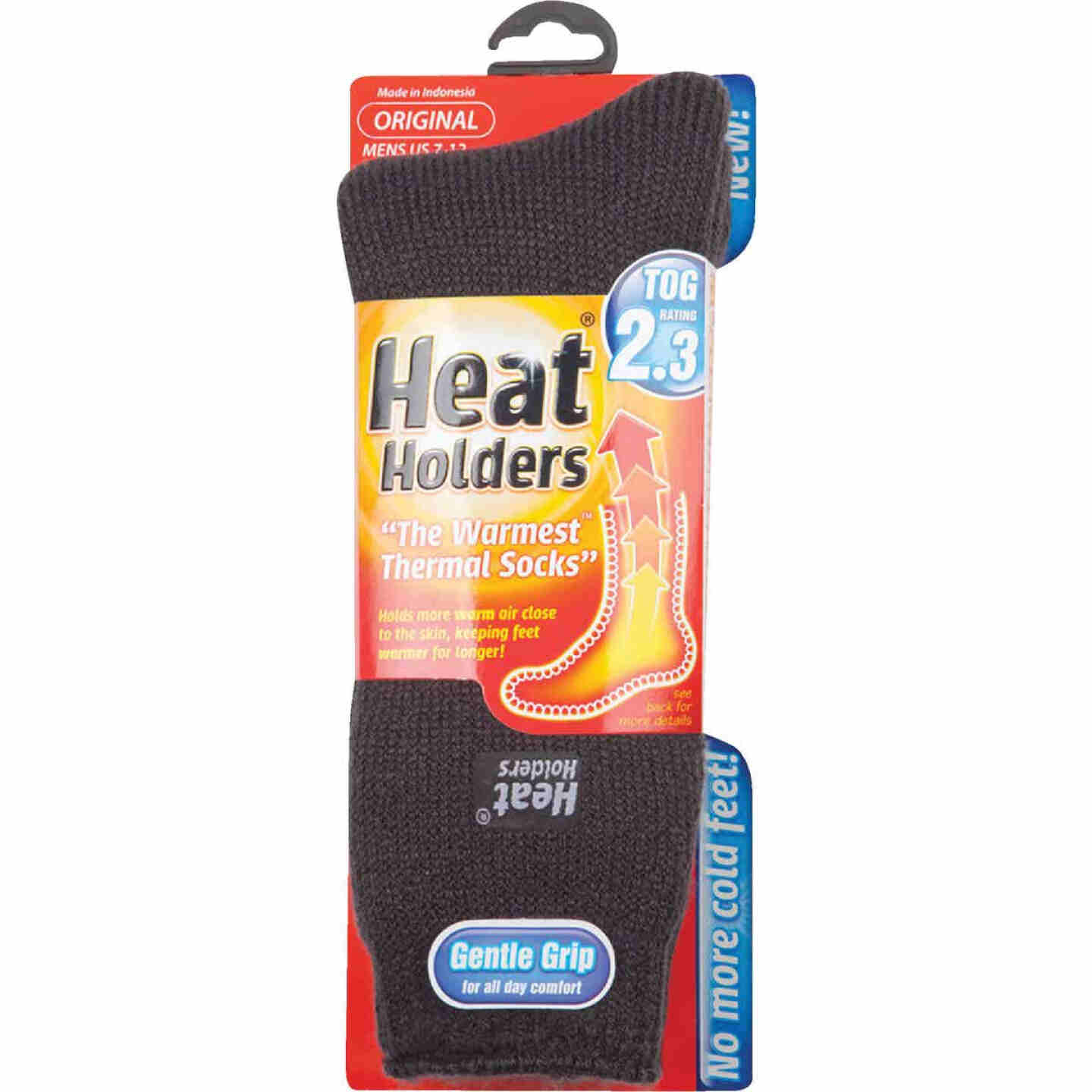 Heat Holders Men's 7 to 12 Charcoal Thermal Sock Image 2