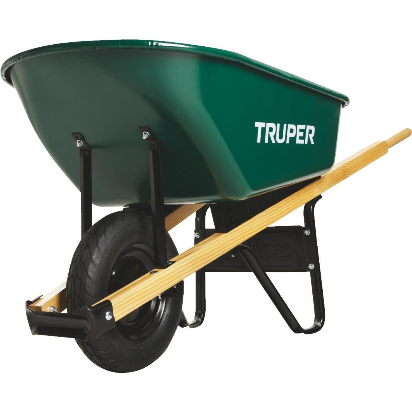 Truper 6 Cu. Ft. Steel Wheelbarrow Image 4